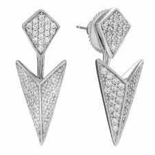 Sif Jakobs SJ-E0210-CZ Women's Pecetto Ear Jackets With White Zirconia