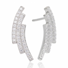 Sif Jakobs SJ-E1019-CZ Women's Fucino Three Earrings With White Zirconia