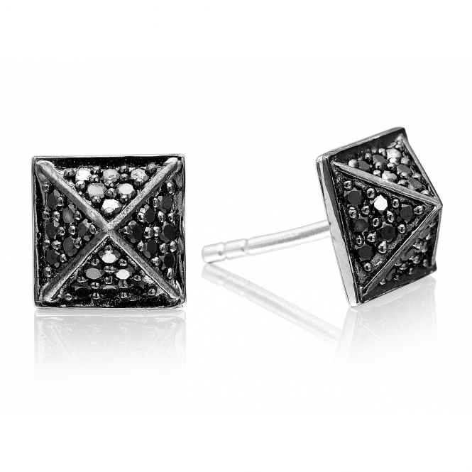 Sif Jakobs SJ-E1851-BK Women's Panzano Earrings With Black Zirconia