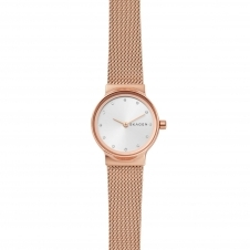 Skagen SKW2665 Freja Rose Gold-Tone Steel-Mesh Wristwatch