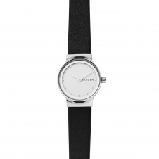 Skagen SKW2668 Freja Black Leather Strap Wristwatch