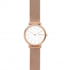 Skagen SKW2694 Signatur Slim Rose Gold Tone Steel-Mesh Wristwatch