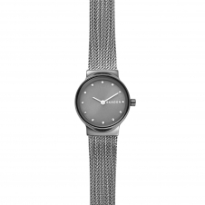 Skagen SKW2700 Freja Dark Grey Steel-Mesh Wristwatch