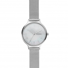 Skagen SKW2701 Anita Steel-Mesh Mother of Pearl Wristwatch