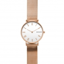 Skagen SKW2714 Rose-Tone Silk-Mesh Wristwatch