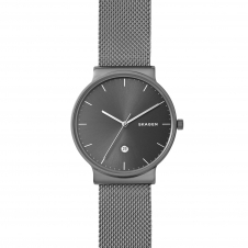 Skagen SKW6432 Ancher Titanium and Steel-Mesh Wristwatch