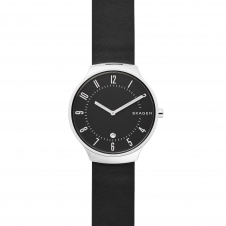 Skagen SKW6459 Grenen Slim Black Leather Wristwatch