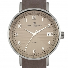Smart Turnout STH3-WH-56-W GRE-L-55-20S Scholar Grey Leather Strap