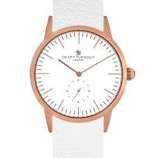 Smart Turnout STK3-RO-56-W WHI-EL-55-20S-RG Signature White Leather Strap