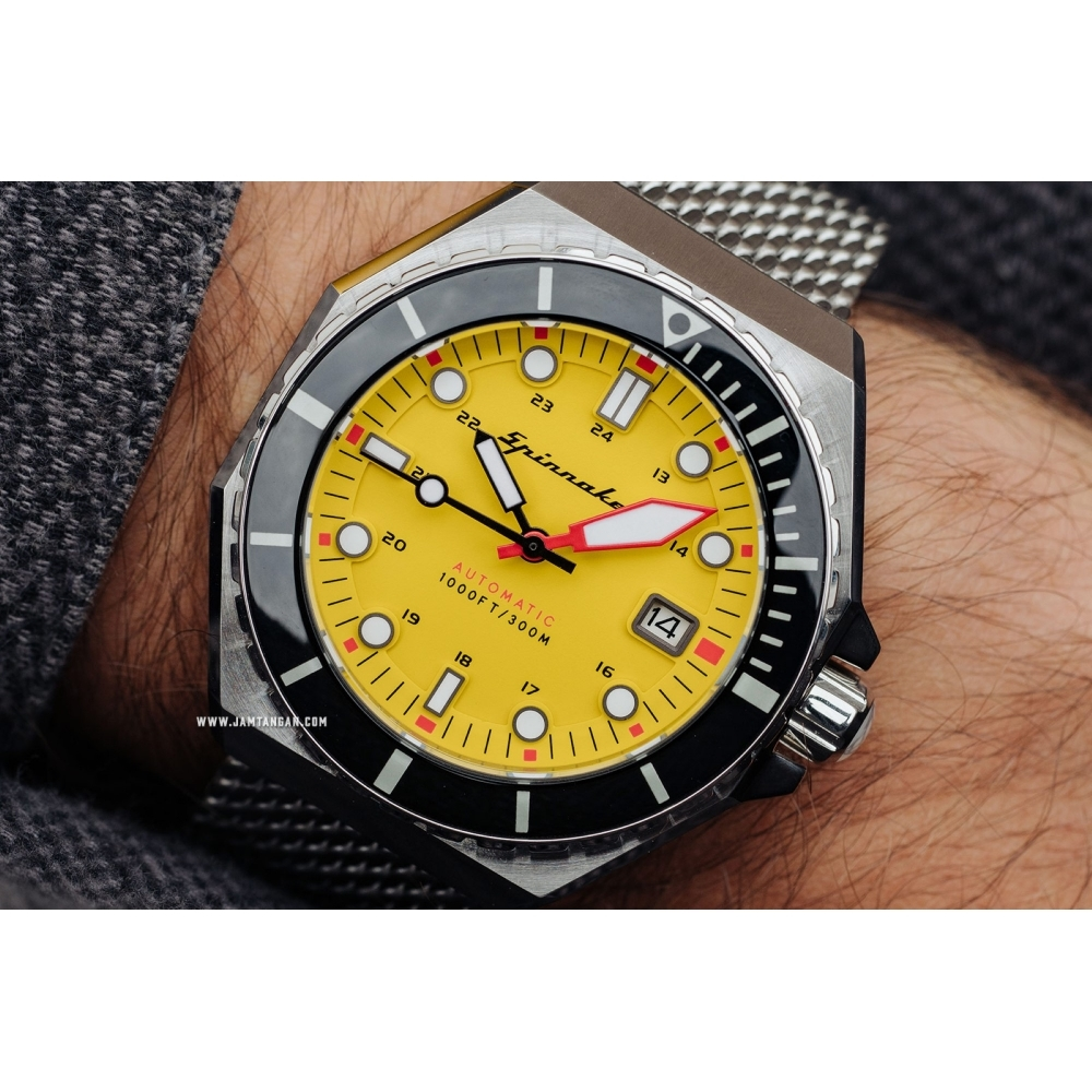 Buy Spinnaker SP-5081-44 Gent's Dumas Yellow Dial Wristwatch