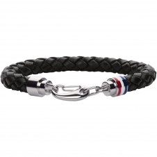Tommy Hilfiger 2700510 Braided Black Leather Bracelet