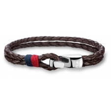 Tommy Hilfiger 2700671 Braided Brown Leather Bracelet