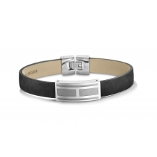 Tommy Hilfiger 2701001 Black Leather Bracelet