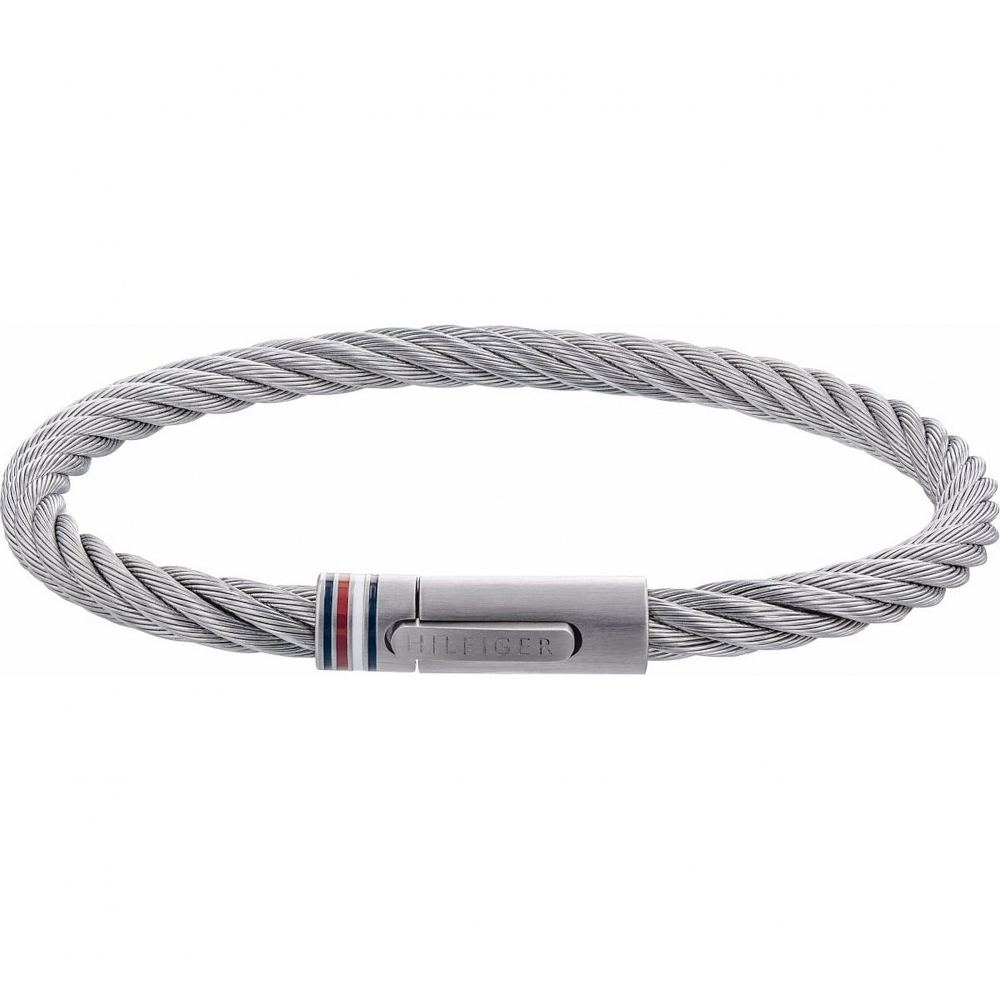 Tommy Hilfiger 2790015 Steel Cable Wire Bracelet