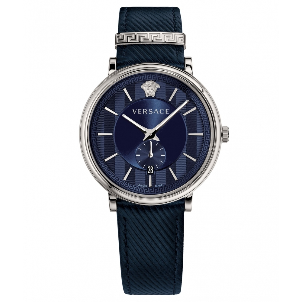 4e696fef94 Versace VBQ010017 Men's Blue Manifesto Wristwatch