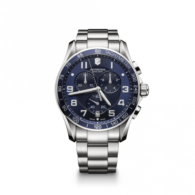 Victorinox 241652 Men's Chrono Classic XLS Blue Wristwatch