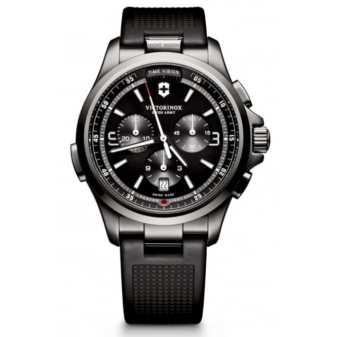 Victorinox 241731 Men's Night Vision Chronograph Wristwatch