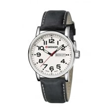 Wenger 01.0341.101 Men's Attitude Day Date Wristwatch