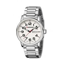 Wenger 01.0341.102 Men's Attitude Day Date Wristwatch