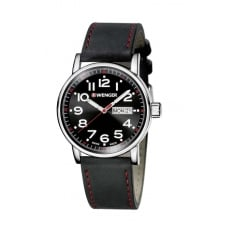 Wenger 01.0341.103 Men's Attitude Day Date Wristwatch