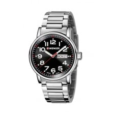 Wenger 01.0341.104 Men's Attitude Day Date Wristwatch