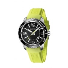 Wenger 01.0851.115 Men's Roadster Green Silicone Wristwatch