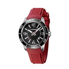 Wenger 01.0851.116 Men's Roadster Red Silicone Wristwatch