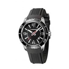 Wenger 01.0851.117 Men's Roadster Black Silicone Wristwatch