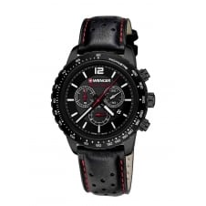 Wenger 01.0853.108 Men's Black Night Chronograph Wristwatch