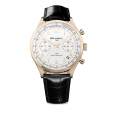 William L WLOR01BCORCN Vintage Style Chronograph Wristwatch