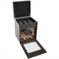Wolf 457156 Roadster Single Wristwatch Winder Black