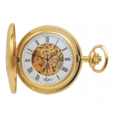 Woodford 1021 Gold Tone Half Hunter Pocket Watch