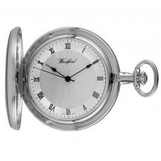 Woodford 1054 Chrome Plated Full Hunter Mechanical Pocket Watch