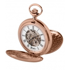 Woodford 1090 Rose Gold Tone Mechanical Double Hunter Pocket Watch