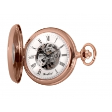 Woodford 1092 Rose Gold Tone Mechanical Half Hunter Pocket Watch
