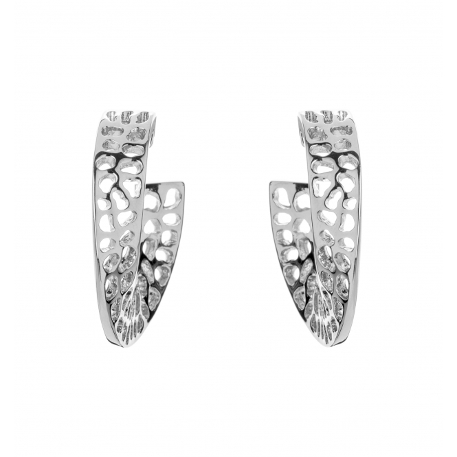 WP400-SV Women's Warp Earrings