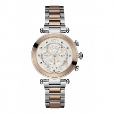 GC Y05002M1 Ladychic Rose Gold Silver Two Tone Wristwatch