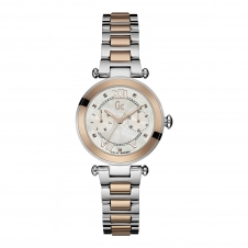GC Y06002L1 Ladychic Silver Rose Gold Two Tone Wristwatch